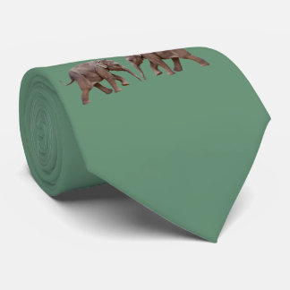 Baby Elephant Tie Double Sided (Green)