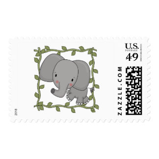 Baby Elephant Tshirts and Gifts Stamp