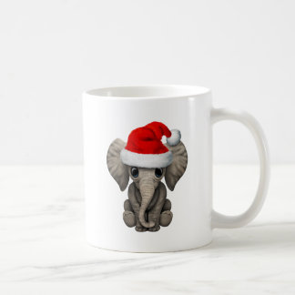 Baby Elephant Wearing a Santa Hat Coffee Mug