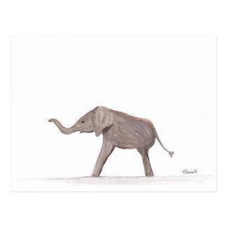 Baby elephant wild animal nursery art postcard