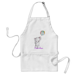 Baby Elephant with Balloon Apron