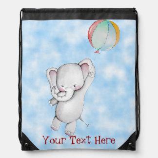Baby Elephant with Balloon Customizable Backpack