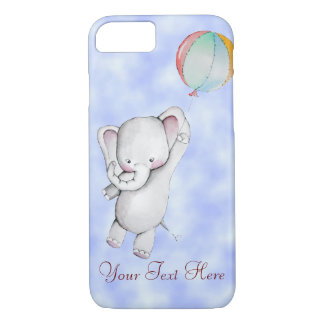 Baby Elephant with Balloon iPhone 7 Case