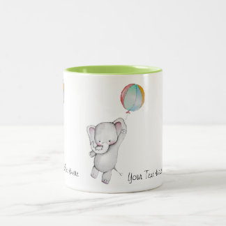 Baby Elephant with Balloon Mug