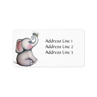 Baby Elephant with Bee Address Label
