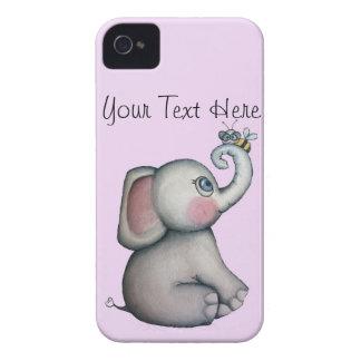 Baby Elephant with Bee Blackberry Case