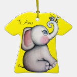 Baby Elephant with Bee Ornament