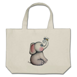 Baby Elephant with Bee Tote Bag