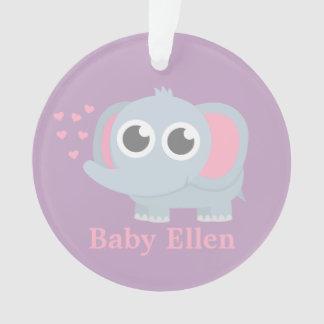 Baby Elephant With Love Girls Nursery Room Decor Ornament