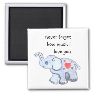 Baby elephant with love hearts magnet