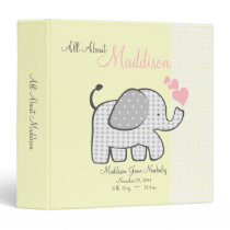Baby Elephant Yellow All About Baby Binder