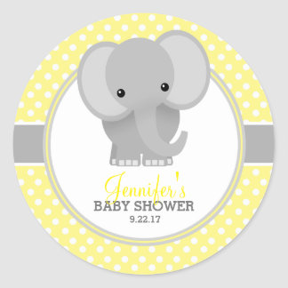 Elephant baby stickers zazzle - Stickers elephant chambre bebe ...