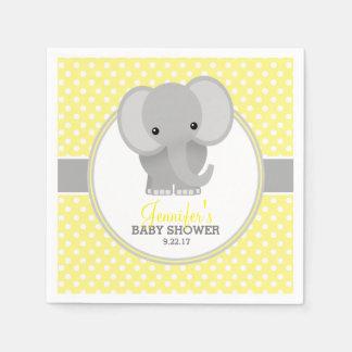 Baby Elephant (yellow) Baby Shower Paper Napkin