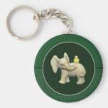 Baby Elephant & Yellow Duck Keychain