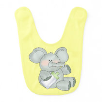 Baby Elephant Yellow Unisex Baby Bib