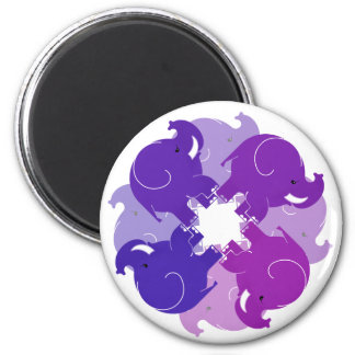 BABY ELEPHANTS 2 INCH ROUND MAGNET