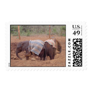 Baby Elephants Postage