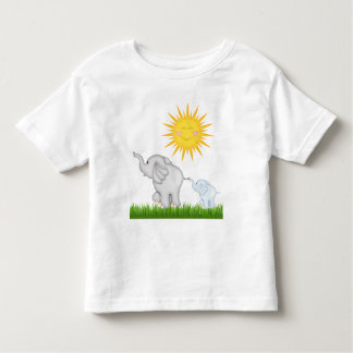 baby Elephants strolling unisex toddler t-shirt