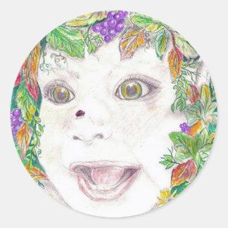 baby elf (2) classic round sticker