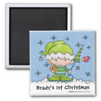 Baby Elf –Personalized !st  Christmas Magnet