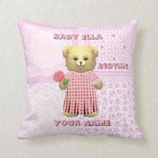 Baby Ella Bear's Bedtime cushion Throw Pillows