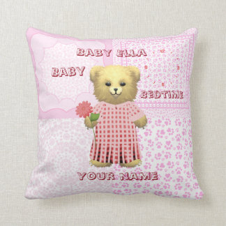 Baby Ella Bear's Bedtime cushion Pillow