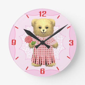Baby Ella Bear's Clock with numbers