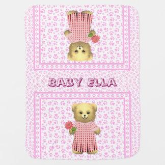 Baby Ella Bear's Spring bear Receiving Blanket