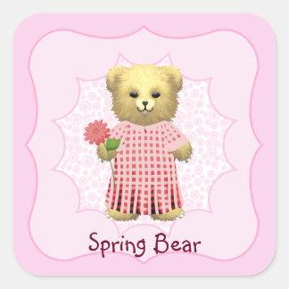 Baby Ella Bear's Square Sticker