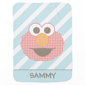 Baby Elmo Big Face Polka Dot Receiving Blankets