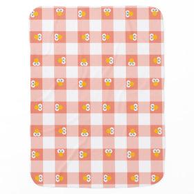 Baby Elmo Plaid Pattern Swaddle Blanket