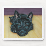 """&#39;Baby Em&#39; - Scottie puppy Mouse Pad<br><div class=""""desc"""">Taken from original artwork from Vicki Horsley of Vick&#39;s Animal Art,  this item is a must for any Scottie lover!</div>"""