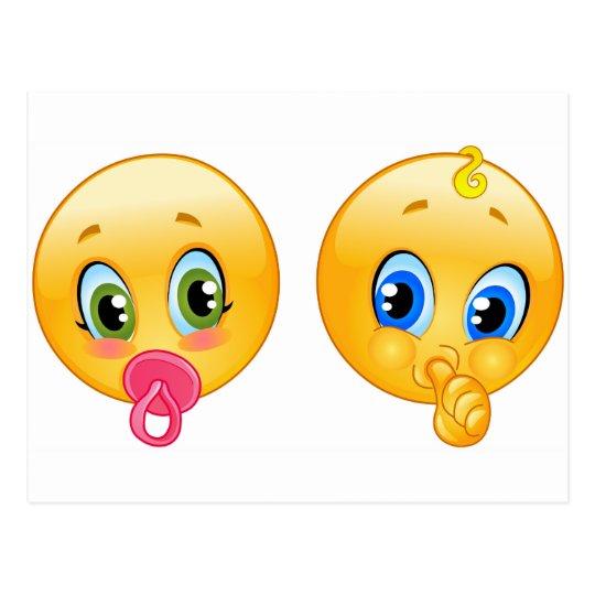 Baby Emojis Postcard Zazzle Com