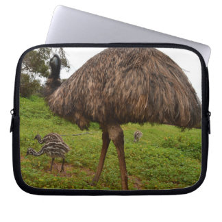 Baby_Emu_Chicks_With_Dad,_10_inch_Laptop_Sleeve Computer Sleeves