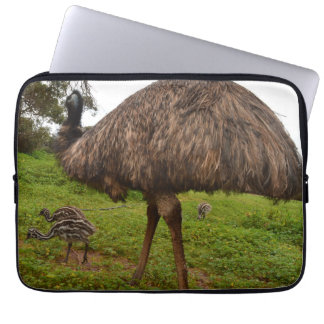 Baby_Emu_Chicks_With_Dad,_13_inch_Laptop_Sleeve Laptop Computer Sleeves