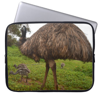 Baby_Emu_Chicks_With_Dad,_15_inch_Laptop_Sleeve Laptop Computer Sleeves