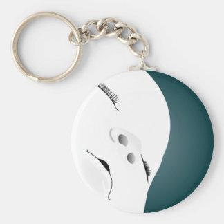 Baby Face 2 Basic Round Button Keychain