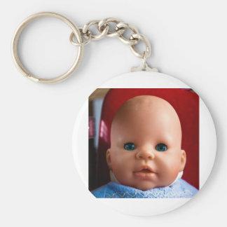 Baby Face Basic Round Button Keychain