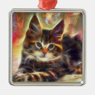 Baby Face - Cat Art by John Robert Beck Metal Ornament