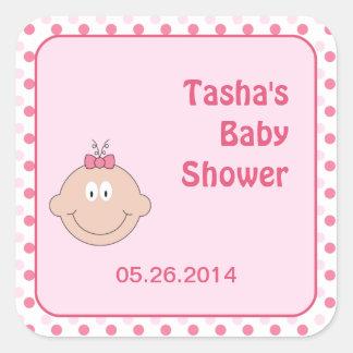 Baby Face Girl Fair Skin - Square Sticker