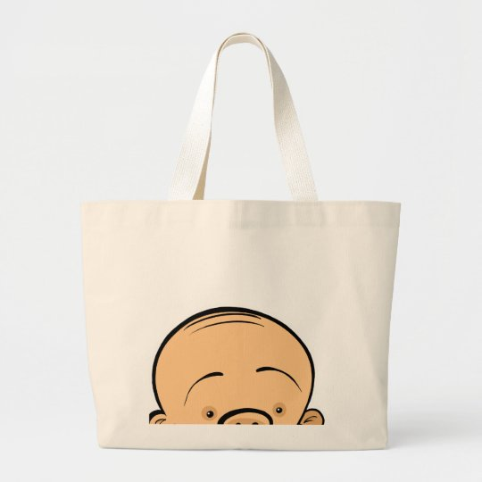Baby Face Large Tote Bag