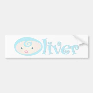 """Baby Face"" Oliver Bumper Sticker"
