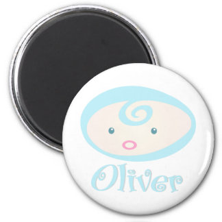 """""""Baby Face"""" Oliver 2 Inch Round Magnet"""