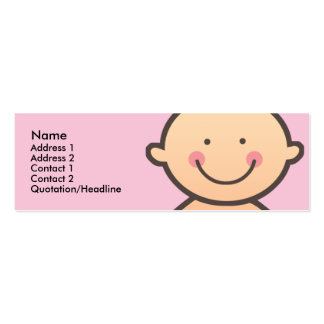 Baby Face Pink Skinny Profile Cards Double-Sided Mini Business Cards (Pack Of 20)