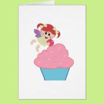 baby fairy cupcake cherry on top card