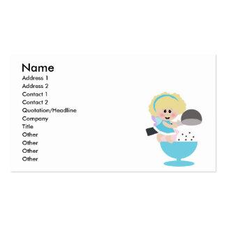 baby fairy ice cream scoop sweetie business card template