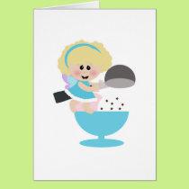 baby fairy ice cream scoop sweetie card