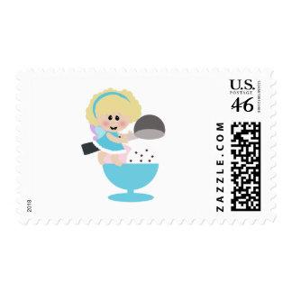 baby fairy ice cream scoop sweetie postage stamp