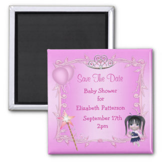 Baby Fairy & Tiara Baby Shower Save The Date Magnet
