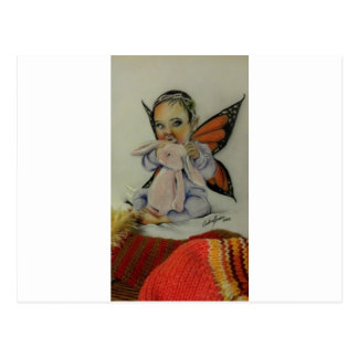 Baby fairy with bunny postcards